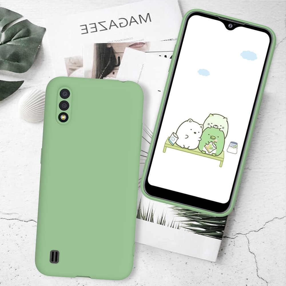 แบบธรรมดา Samsung Galaxy A51 A 01 21 71 81 91 A50 30 40 70 20 E 10 S S20 Ultra 10 Plus Capa Soft ซิลิโคน TPU ซิลิโคน
