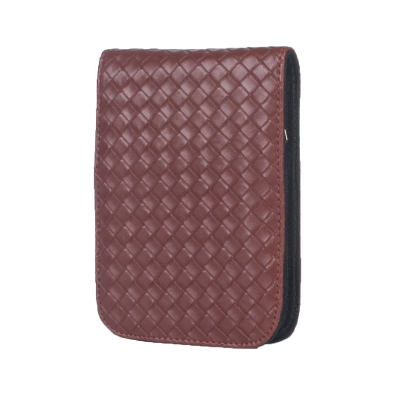 Woven Pattern Fountain Pencil Case 12 Slots Pen Bag Writing Holder Accessories For Personal Office Pencil Pouch
