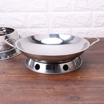 Stainless Steel Wok Rack Kitchen Durable Round Type Pot Rack Pot Ring Soup Bowl Holder Kitchen Supplies S/M/L/XL