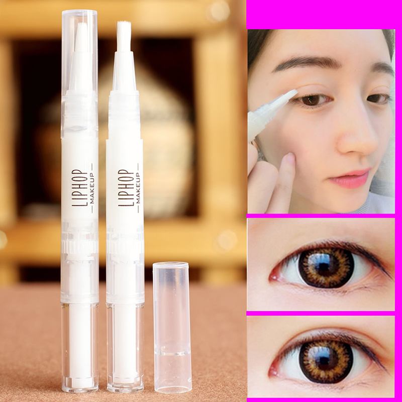 Long Lasting Double Eyelid Gel Cream Waterproof Double Head Invisible Eyelids Glue Pen Sticker Magical Eye Lids Cream Makeuptool