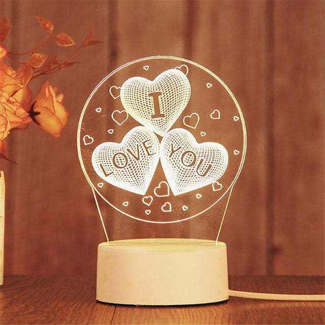 Фото 3d светодиодный ночник неоновые огни креативная светодиодная
