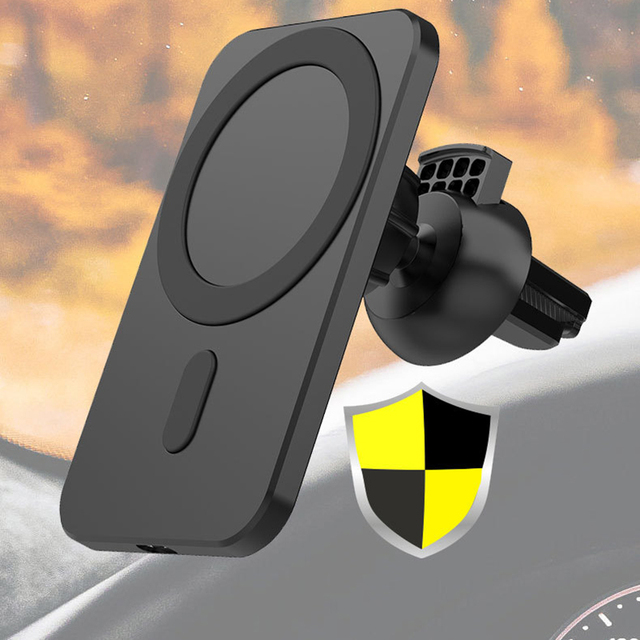 Fast 15w Magnetic Car Wireless Charger Qi Charging Mount Air Vent Phone Stand For Iphone 12 ProMax 12Mini Magnetic Car Holder