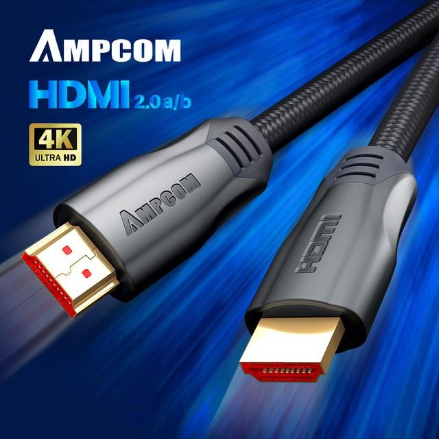 HDMI 케이블 HDMI 2.0a 2.0b, AMPCOM 엔지니어링 시리즈 4K HDMI 2.0 케이블 지원 3D 이더넷 HDR 4:4:4 HDTV PS4 PS3