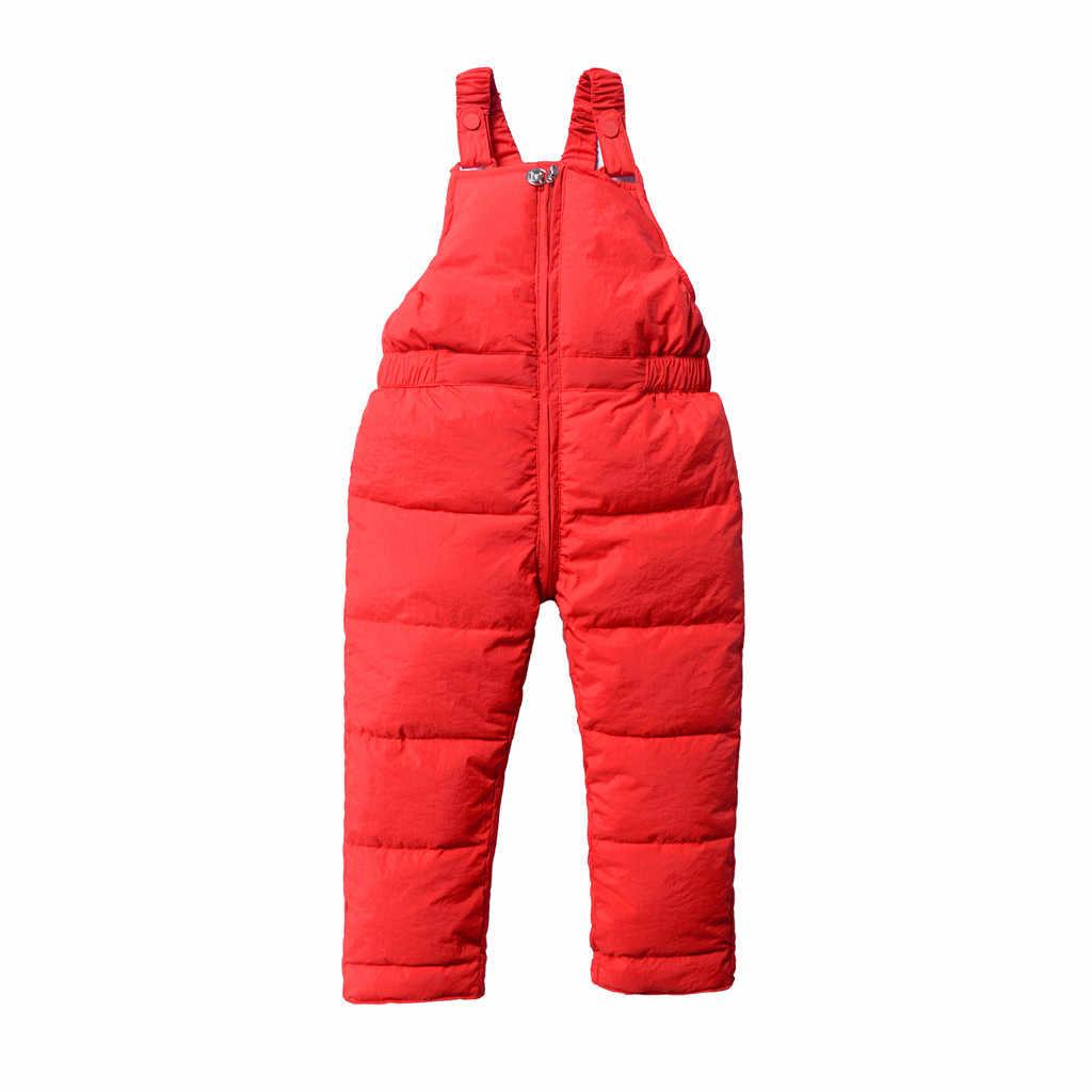 เด็ก Overalls เด็ก Jumpsuit ฤดูหนาวเด็กวัยหัดเดิน Boys Girls กางเกงโดยรวม Jumpsuit ฤดูหนาวกางเกงเสื้อผ้า 2020 Salopette Enfant