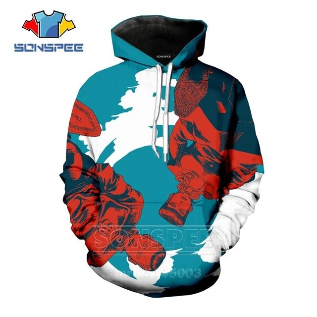 Anime JoJo Bizarre Adventure Hoodies Men Women JOJO Sweatshirt 3D Print Fashion Long Sleeve Hip Hop Top O Neck Pullover C045-14 4
