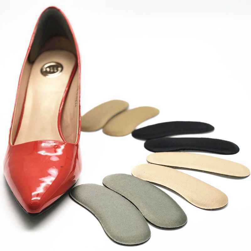 1 คู่ยืดหยุ่น Heel Liner ฟองน้ำแทรกซิลิโคน Heel Protector Pad หมอนอิง Insole รองเท้าส้นสูงสำหรับรองเท้า