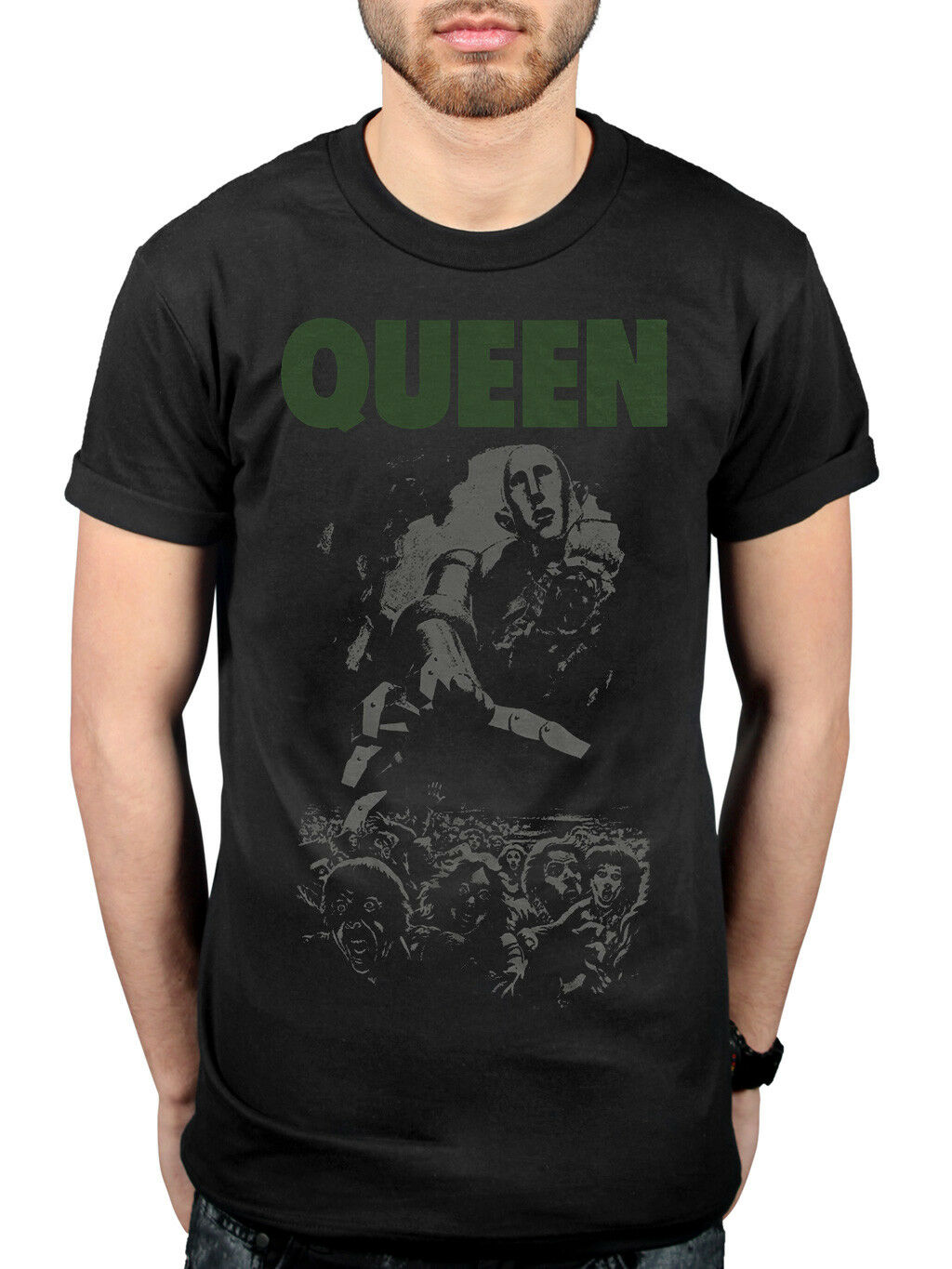 Official Queen News Of The World 40Th Full Cover T Shirt Made In Heaven Hot Spac