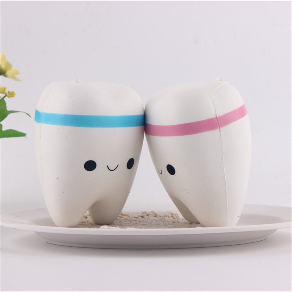 Simulation Cute Cartoon Tooth Model Decompression Vent Toy Pendant Kids Toys Brinquedos Juguetes игрушки Dropship New Arrival