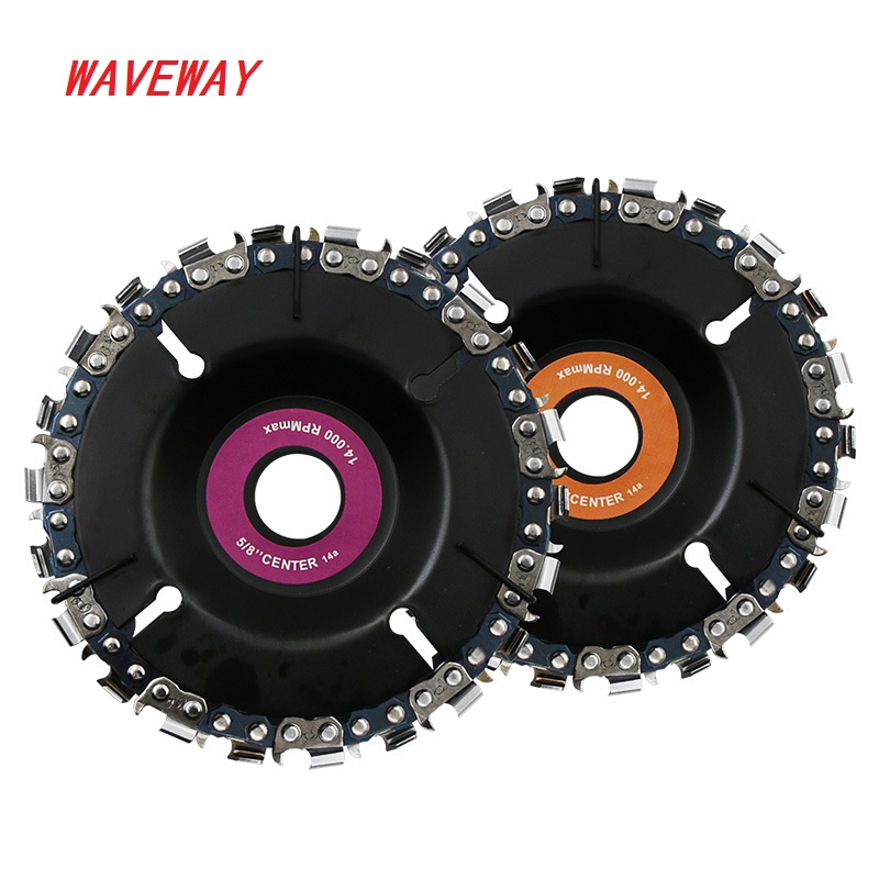 4 Inch Grinder Disc And Chain 22 Tooth Fine Abrasive Cut Chain Set Wood Carving Discs For 4