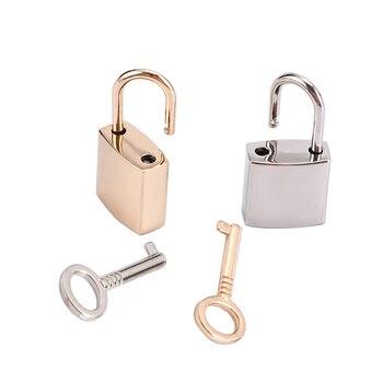 цена на 1pcs Mini Archaize Padlocks Key Lock With Key Supplied for Jewelry Box Storage Box Diary Book Gold Silver Color Good Quality