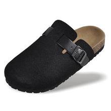 2020 nowych mężczyzna buty korkowe buty casualowe sandały mieszkania slajdy męskie zamknięte Toe sandały klamra unisex kapcie czarny czerwony Plus rozmiar 44