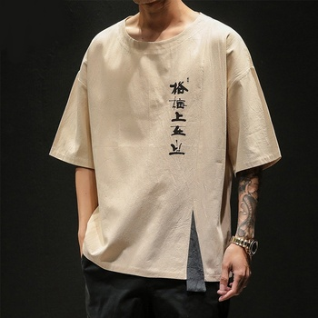 Tradycyjna chińska odzież dla mężczyzn strój Tang bawełniana lniana koszulka męska orientalna bluzka Kung Fu narodowy chiński Top 10629 tanie i dobre opinie Tangslady COTTON Topy Suknem