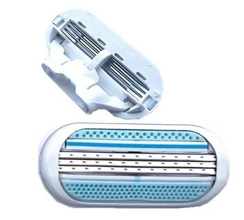 Ostrza do golenia dla kobiet bezpieczeństwo kobiece maszynki do golenia dla żyletka Venuse do golenia 3 warstwy ostrza tanie i dobre opinie 4pcs 3 Layer Plastic+Stainless Steel