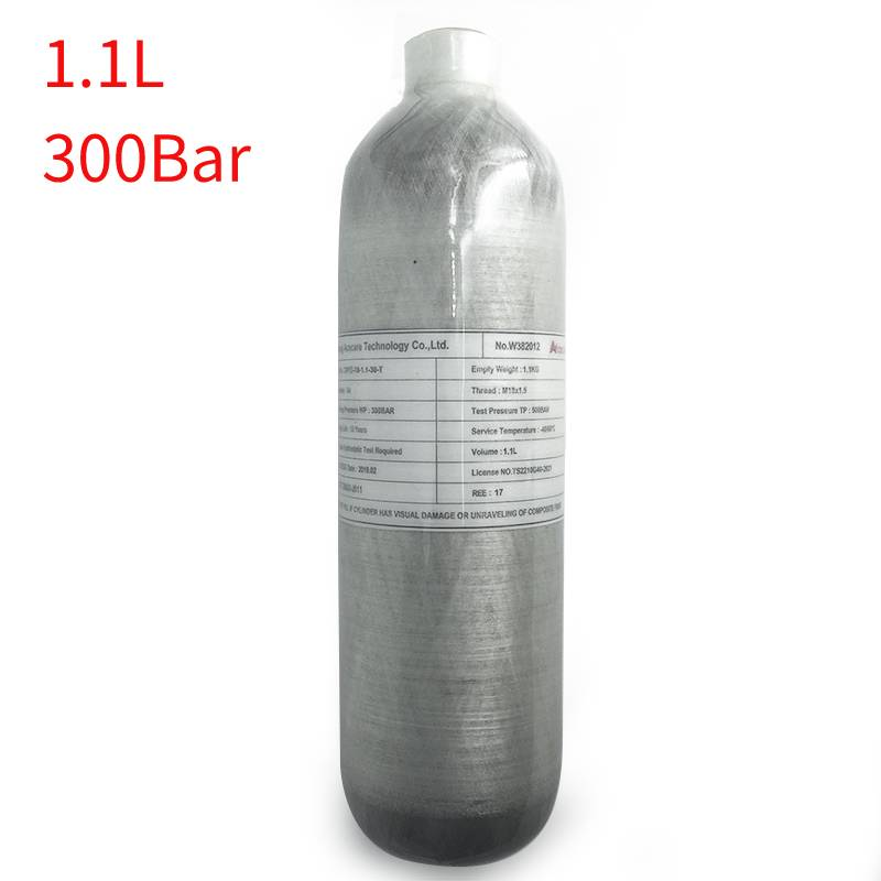 AC3011 1.1L Mini Cylinder Pcp Rifle Underwater Tank High Pressure Air Compressor Scuba Diving Hunting Weapons Paintball Acecare
