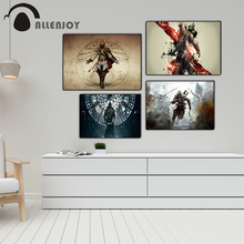 Allenjoy Game Posters Assassins Creed Soldier Cosplay Characters Child Bedroom Pictures Vintage Art Canvas Paintings on the Wall
