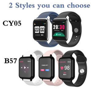 Image 5 - B57 montre intelligente étanche Smart Wriatband fréquence cardiaque pression artérielle surveillance de loxygène Smartband Smartwatch Bracelet intelligent CY05