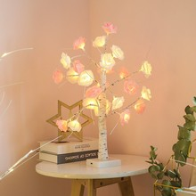 LED Bonsai Tree Light 24 LED Blossom Tree Decorative Lighting Light Tree For Christmas Holiday Decoration 30 X 20 X 20cm