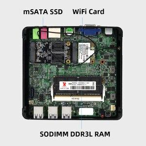 Image 5 - كمبيوتر مكتبي صغير إنتل كور i7 7500U i5 7200U i3 7100U 4K UHD ويندوز 10 لينكس HDMI VGA واي فاي جيجابت إيثرنت 6 * USB HTPC