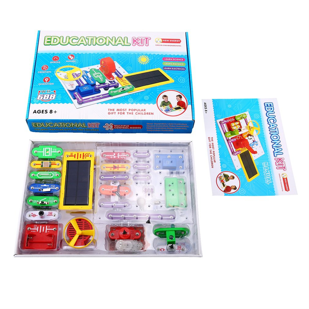 Multicolor Electronics Discovery Kit Smart Electronics Block Kit Educational Science Kit Toy Best DIY Toys for Kids Children