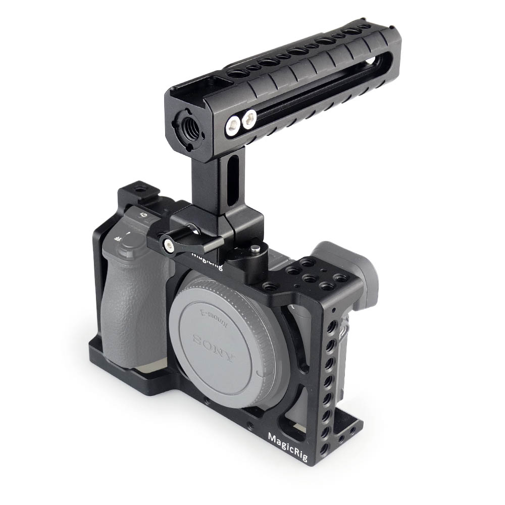 MAGICRIG DSLR Camera Cage with NATO Handle for <font><b>Sony</b></font> A6400/ A6000/ A6300/ <font><b>A6500</b></font> to Mount Microphone Monitor Flash Light image