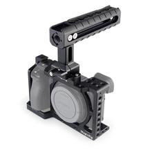 MAGICRIG กล้อง DSLR กรง NATO Handle สำหรับ Sony A6400/A6000/A6300/A6500 Mount ไมโครโฟนแสงแฟลช