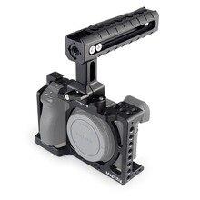 소니 a6400/a6000/a6300/a6500 용 나토 핸들이있는 magicrig dslr 카메라 케이지 마이크 모니터 플래시 라이트 장착
