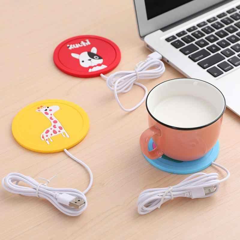 USB Warmer Gadget Cartoon Siliconen Dunne Cup-pad Koffie Thee Drinken Usb Hot Stand Voor Drankjes Pad Voor Cup mooie Gift Keuken Gereedschap