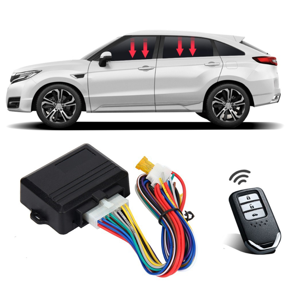 SPEEDWOW 12V Universal Power Window Roll Up Closer For 4 Doors Auto Remotely Close Windows Car Alarm Systems Car Protector