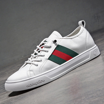 Trend Brand Leather Men Casual Shoes Fashion Sneakers Footwear White Zapatos Outdoor Male Walking Shoes Men Flats Shoes 2019 fashion sneakers leather men casual shoes zapatos hombre footwear male walking shoes designer men business shoes flat dress