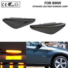 Feu de signalisation latéral LED fumé séquentiel dynamique, clignotant, pour BMW X3 F25 X5 E70 LCI X6 E71X6 E72, 2 pièces