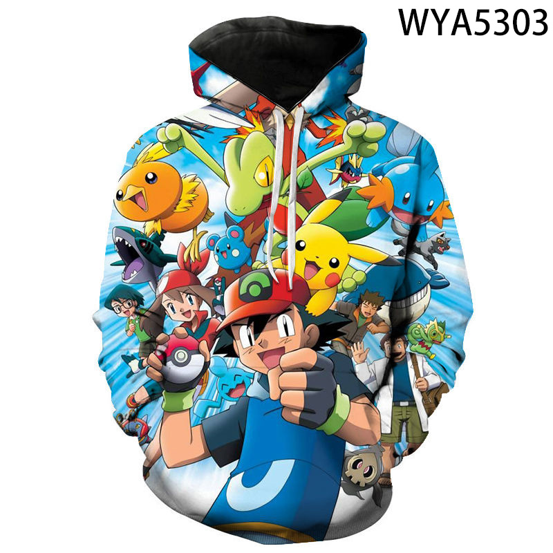 2020 New Fashion Games Pokemon 3D Printed Hoodies Cool Sweatshirts Men Women Children Fashion Pullover Boy Girl Kids Coat 1