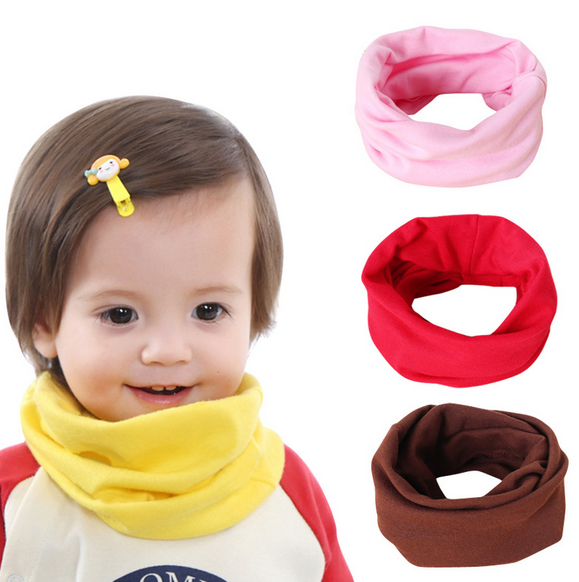 Hot 2019 Cartoon Children Boys Girls Baby Wool Ring Scarf Cotton O Ring Printed Scarf Neck Scarves Shawl Warm Winter Neckerchief