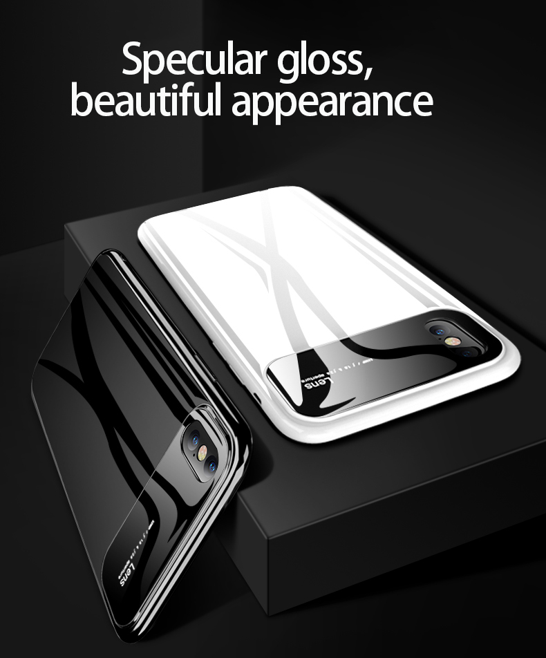 H60f25db77c594a04bb8863440ba7e611n Plastic shell for iphone X XR XS MAX glass case iPhone 7 8 PLUS 11 Pro MAX ultra-thin anti-fall cover 360° surrounding shell