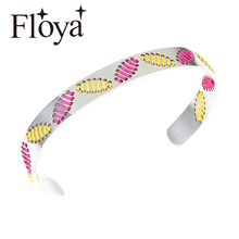 Floya Bohemian Bangles Ethnic style Womens Heart Charm Colorful Leaf bracelets ladies original handmade Cuff Bracelet wholesale