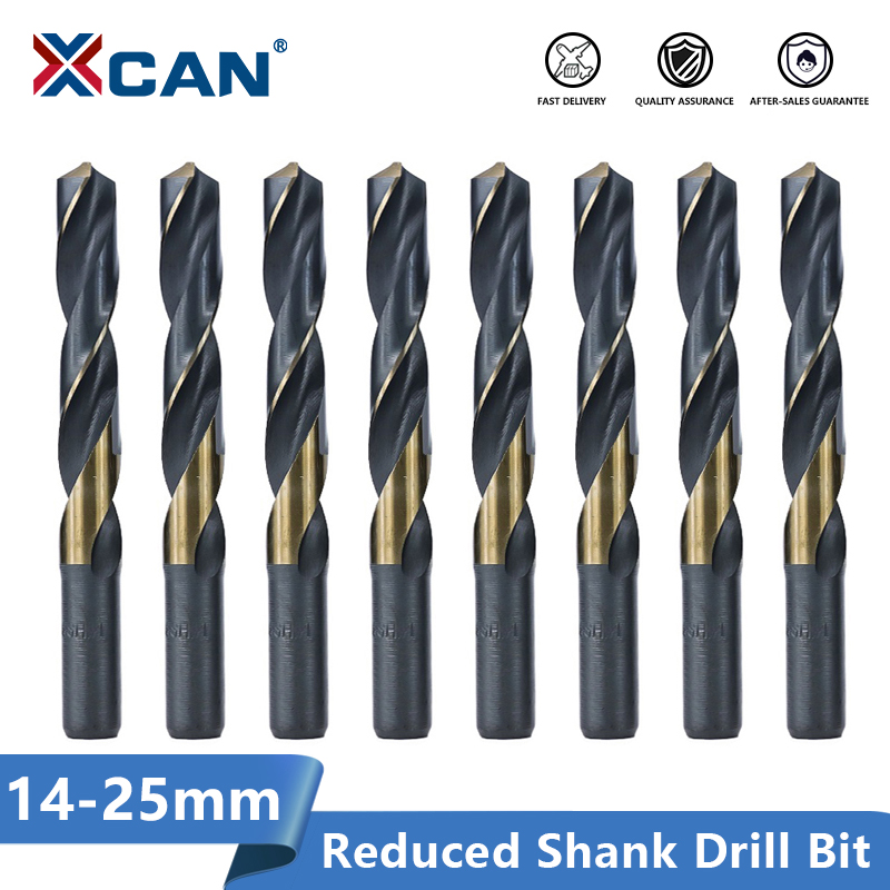 XCAN Reduced Shank Drill Bit 14-25mm  Twist Drill Bit HSS Hole Cutter Metal Drill