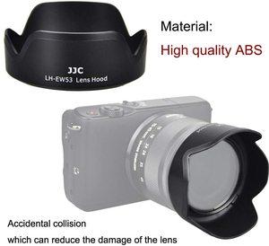 Image 3 - EW 53 geri dönüşümlü Lens Hood gölge Canon EF M 15 45mm F3.5 6.3 is STM Lens EOS M5 M6 mark II M50 Mark II M50 M200 M100 M10