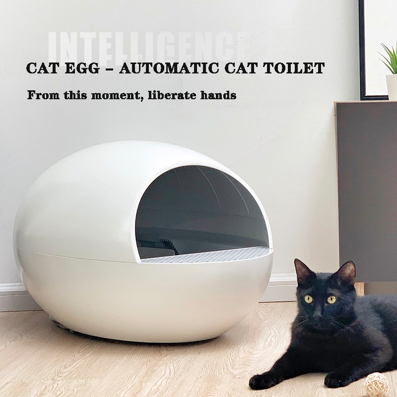 Fully Automatic Self-cleaning Closed Litter Box, Large Automatic Toilet, Intelligent Cleaning Potty, Pet Supplies