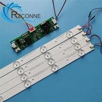 63 Cm Lampu Latar LED Lampu Kit Aluminium Papan W/Lensa Optik Fliter untuk TV 32 Inci Monitor Panel pcs LED Strip + Driver Papan