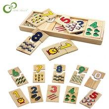 Giocattoli matematici forma digitale accoppiamento apprendimento scuola materna conteggio bambini educativi Montessori giocattolo in legno per bambini regalo ZXH