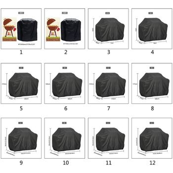 BBQ Cover Outdoor Dust Waterproof Weber Heavy Duty Charbroil Grill Cover Rain Protective Outdoor Barbecue Cover Round Bbq Grill tanie i dobre opinie NoEnName_Null CN (pochodzenie) 2-3 kg P0RD8YY801763-5 Pyłoszczelna Inne akcesoria