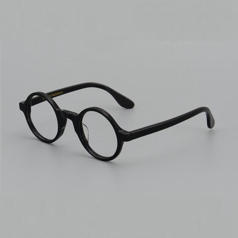 Japan style Zolmen acetate retro round eyeglasses men and women small face myopia prescription reading Optical glasses frame