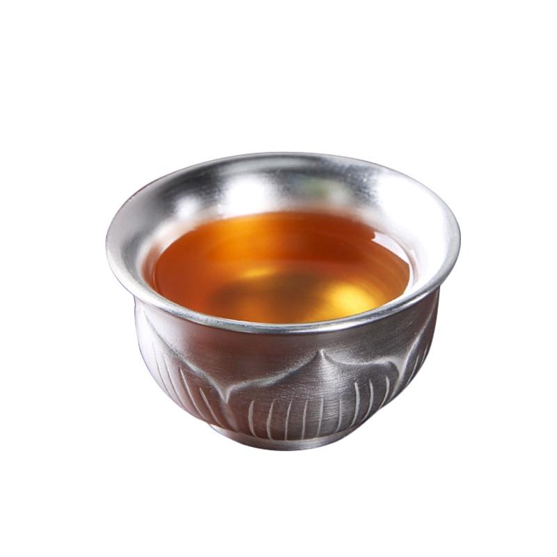 Cuenco de té de cerámica 999 taza de té de plata Puer contenedor titular maestro taza de salud tazas de agua taza de té decoración artesanal Copa Menstrual de silicona de grado médico, copa Menstrual de silicona para mujer, copa de vagina con Coletor Menstrual 1 Uds.