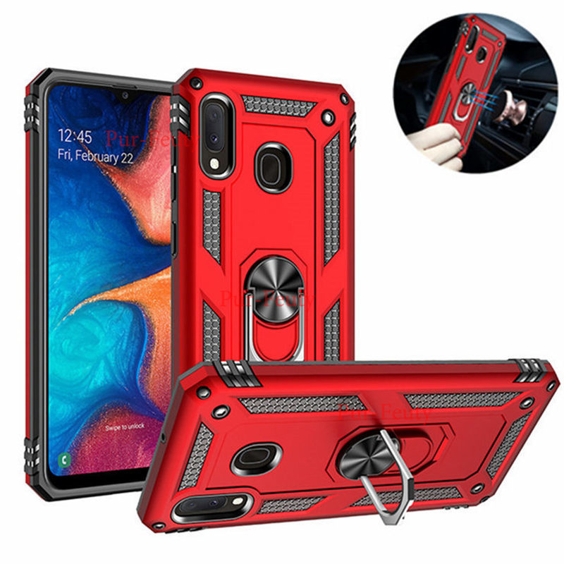 Luxury <font><b>Armor</b></font> Magnetic <font><b>Case</b></font> For <font><b>Samsung</b></font> Galaxy A20E 2019 A202F A10E A 20E A10 <font><b>A20</b></font> A30 S A40 A50 A70 A80 A90 Car Ring Holder Cover image