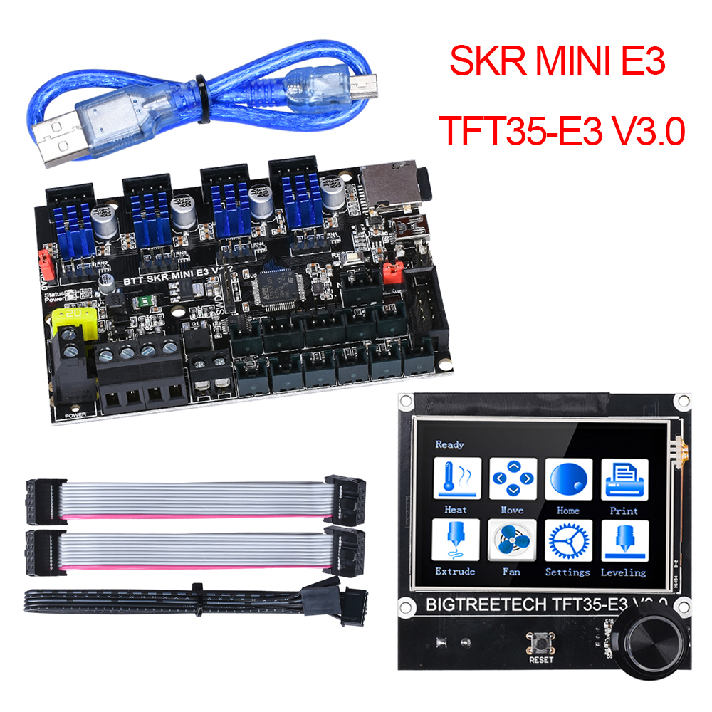 BIGTREETECH SKR MINI E3 32 Bit Control Board E3 DIP TFT35-E3 V3.0 Touch Screen WIFI Module For Ender 3 /5 3D Printer Parts