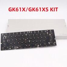 Программируемая клавиатура BGKP GK61X GK61XS, печатная плата RGB 60%, 61 клавиша горячей замены, печатная плата, механическая Проводная клавиатура, ...