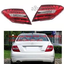 MIZIAUTO Rear tail light For Mercedes Benz W204 C180 C200 C220 C260 C280 C300 2011-2014 Rear Bumper Light Brake Light Stop Lamp