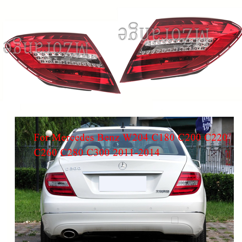 MIZIAUTO Rear tail light For <font><b>Mercedes</b></font> <font><b>Benz</b></font> W204 C180 C200 C220 C260 C280 <font><b>C300</b></font> 2011-2014 Rear Bumper Light Brake Light Stop Lamp image