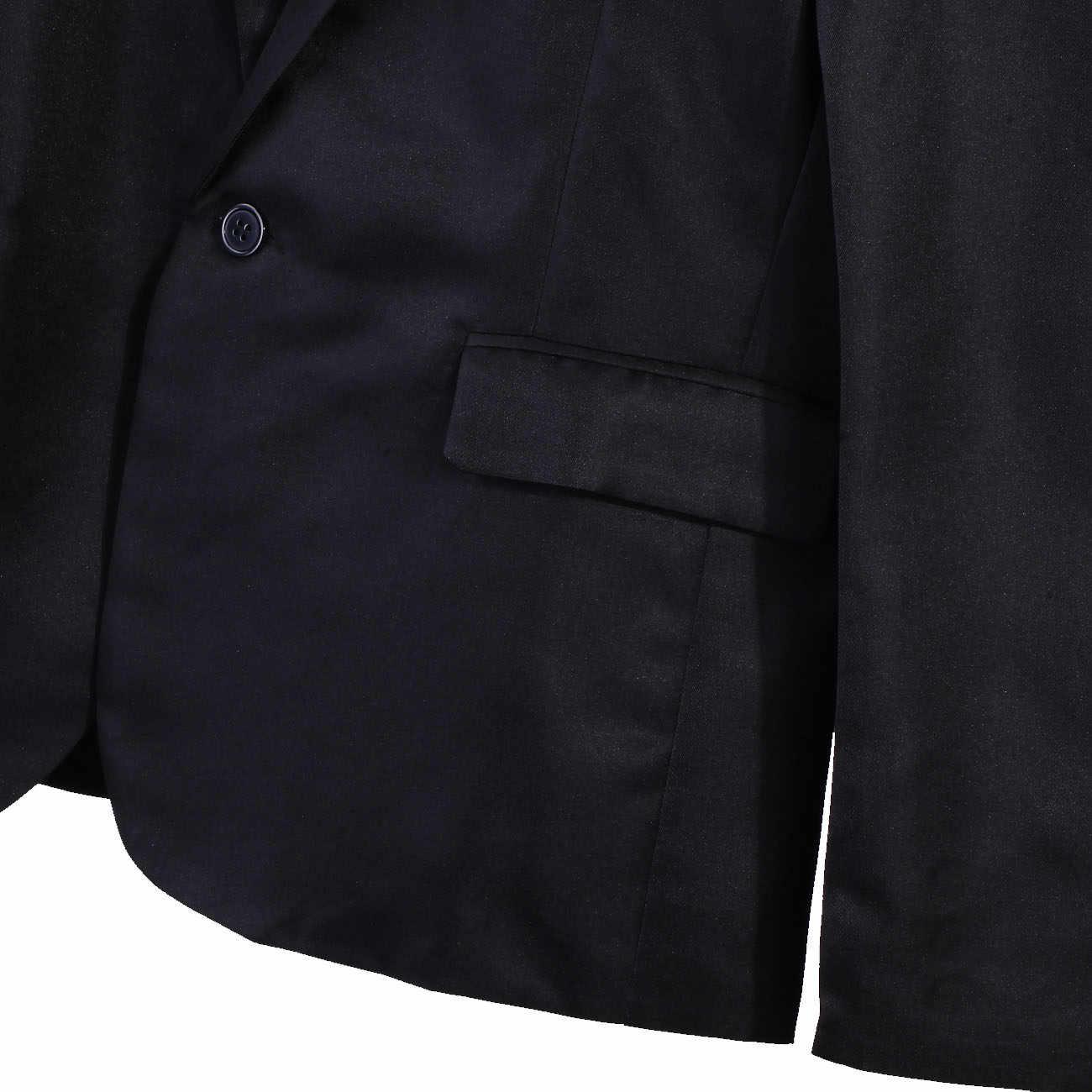 Nowy stylowy mężczyzna Smart Casual Blazer Slim Fitness formalne jeden przycisk garnitur klasyczne męskie moda wiosna letni płaszcz topy M-3XL