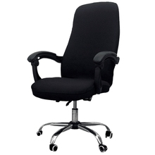 Office Chair Cover Elastic Siamese Office Chair Cover Swivel Chair Computer Armchair Protective Cover Black