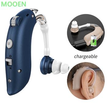 Bluetooth tanie akumulator aparat słuchowy Mini urządzenie wzmacniacz słuchu cyfrowe aparaty słuchowe BTE osoby w podeszłym wieku pielęgnacja uszu wzmacniacz słuchu tanie i dobre opinie MUOXI Chin kontynentalnych audifonos headphones sound amplifier rechargeable hearing aids hearing aids digital mini hearing aids